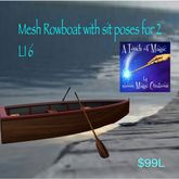 Mesh RowBoat with sit animations for 2(boxed)