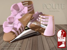 Poute- Lola Flat Sandals- Pink