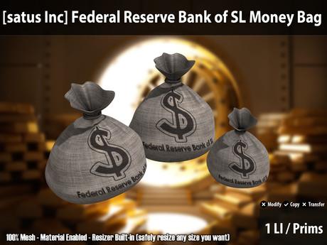 [satus Inc] Federal Reserve Bank of SL Money Bag