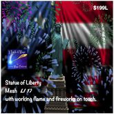 Statue Of Liberty with fireworks mesh (boxed)