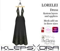 Klepsydra - Lorelei Dress - Grey  (Appliers)