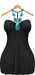 Blueberry Amalia - Maitreya / Belleza / Slink - Dress - Black