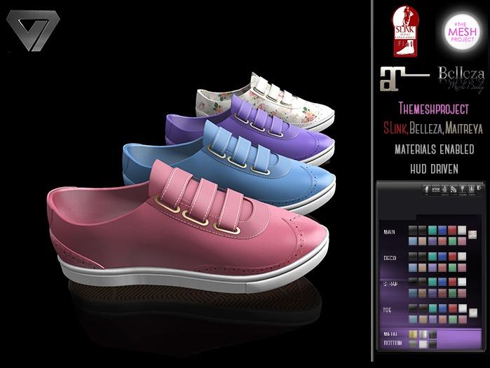 BLACK FRIDAY SALE - ILLI - [SLink,MeshProject,Belleza,Maitreya] Holly Spring Sneaker (HUD Driven)