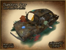 *GALLI* - MESH - Underwater Sunken Car Decoration with Coral & Shells - Copy & Mod