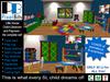 Little House - Child's Bedroom / Playroom. Full set!