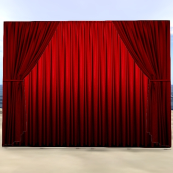 (Stage)-Curtain With Group-Control (boxed) And Support