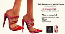 Ruxy-Full Permission Mesh Shoes V9 For Slink High Feet