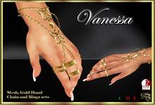 RJ Vanessa Hand Chains (gold)