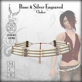 :+:SS:+: Bone & Silver engraved Choker [ladies]