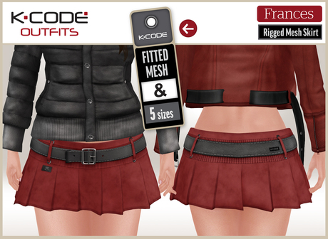 K-CODE FRANCES Skirt DEMO - Fitted Mesh / Rigged Mesh