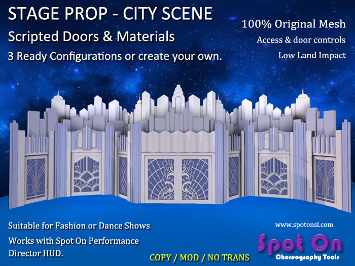 Spot On Stage Prop - City Scene - Scripted