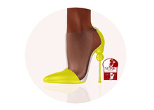 Story - Soc Shoes Yellow (Slink High)