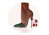 Story - Soc Shoes Green (Slink High)