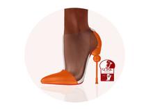 Story - Soc Shoes Orange (Slink High)