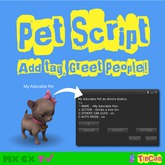PET SCRIPT add tag to your pet and greet people around you (provided with 5 full perm pet sounds)