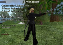 Rapier Sword With 6 Animations