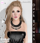 *~*Damselfly*~*Booker Rigged-Mesh Dark Browns