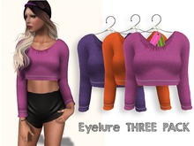 Eyelure Jersey Top    Solid Colors   THREE PACK