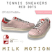 (Milk Motion) tennis sneakers - red dots (female version)