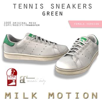 (Milk Motion) tennis sneakers - green (female version)