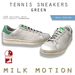 (Milk Motion) tennis sneakers - green (male version)