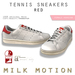 (Milk Motion) tennis sneakers - red (female version)