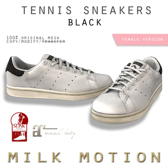 (Milk Motion) tennis sneakers - black (female version)