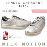 (Milk Motion) tennis sneakers - black (female version)