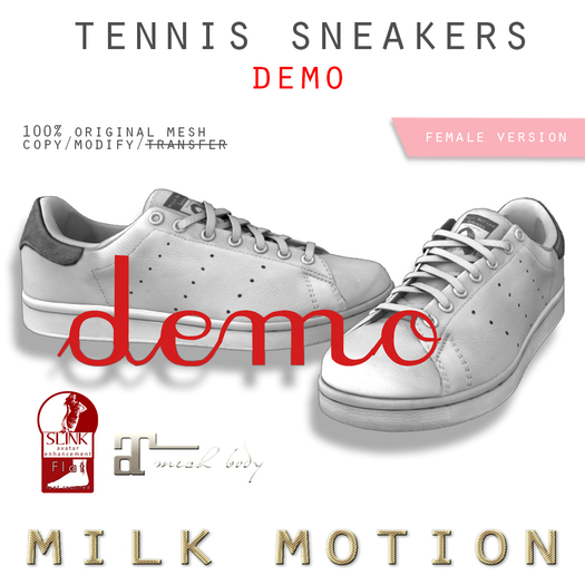 (Milk Motion) tennis sneakers - DEMO (female version)