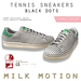 (Milk Motion) tennis sneakers - black dots (female version)