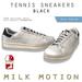 (Milk Motion) tennis sneakers - black (male version)