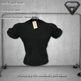 NIRAMYTH AESTHETIC T- SHIRT Plain Black