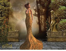 *GLITTER* MILA MERMAID GOWN MESH SEQUINS GOLD & ACCESSORIES