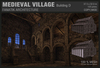 :Fanatik Architecture: MEDIEVAL VILLAGE D – rustic medieval building prefab - long hall /cathedral
