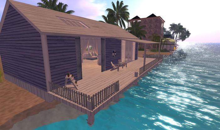Designer Prims Converted Boat Shed, house, prefab, home