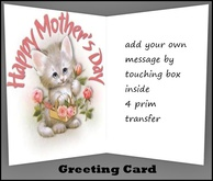 Mothers Day Kitten Greeting Card