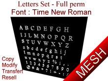 Letters - Time New Roman - MESH - FULL PERM