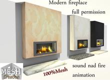 Mesh Creation - Modern Fireplace #1