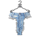 Bleached high waist trash jeans on hangers copy