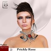 Baboom-prickly Rose-necklace-silver