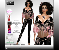 Collection MOREA STYLE *TYPHEN - EXOTIC FLOWERS ROSE*