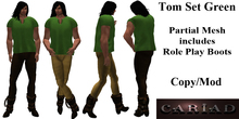 Tom complete outfit in Green