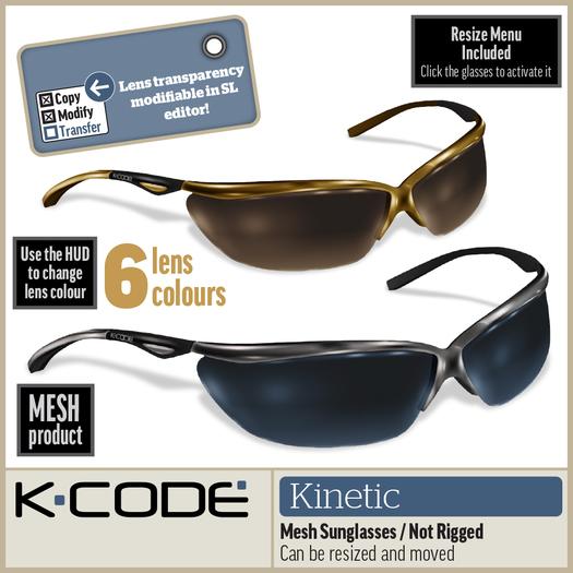 K-CODE KINETIC DEMO - Mesh Sunglasses