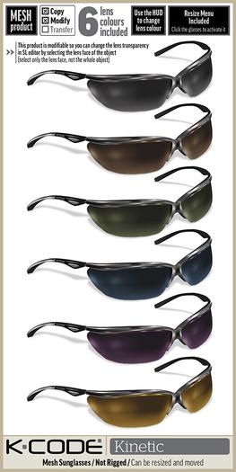 K-CODE KINETIC 1 - Mesh Sunglasses