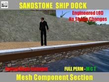 FULL PERM Ranch Sandstone Ship Dock Section w/ Granite Edge