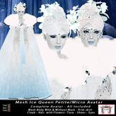 Mesh Ice Queen Petite - Micro Avatar (All Included)