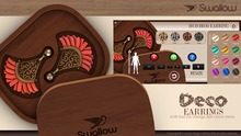 Gift ^^Swallow^^ Deco Earring with Hud