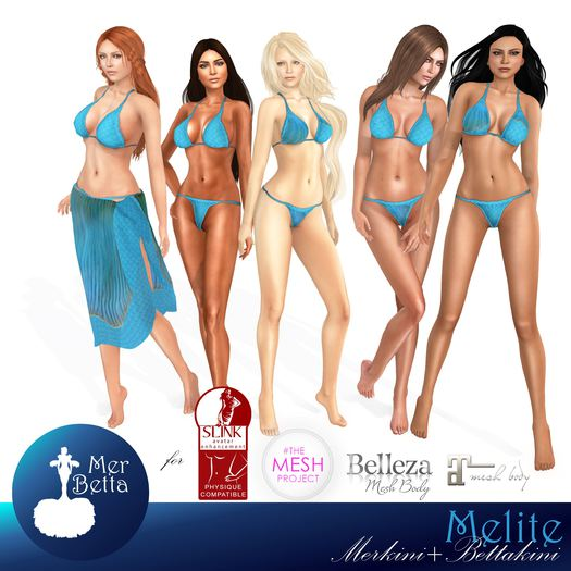 Mer Betta Melite ~ Merkini+Bettakini v4.0 appliers (mpf)