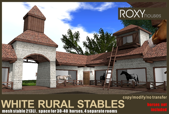 White rural stables