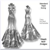 Silver Lace High Neck Dress PROMO